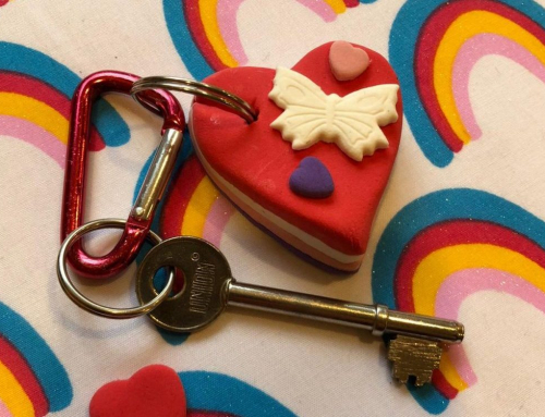 How to Make a Valentine's Heart Modelling Clay Keyring